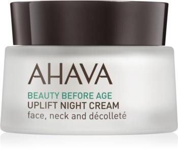 Ahava Beauty Before Age creme de noite com efeito lifting para rosto, pescoço e decote