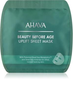 Ahava Beauty Before Age vyhlazující plátýnková maska s liftingovým efektem