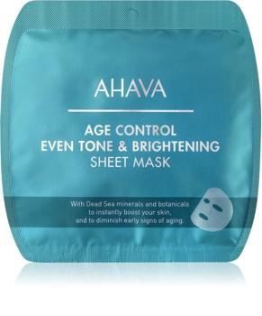 Ahava Time To Smooth тканевая маска для лица, придающая сияние против морщин