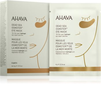 Ahava Dead Sea Osmoter hidrogel maska za predel okoli oči za osvetljevanje kože in hidratacijo