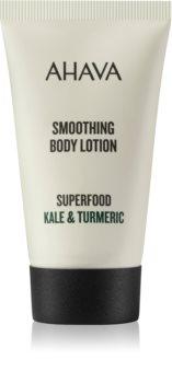 Ahava Superfood Kale & Turmeric leite corporal suavizante com efeito hidratante