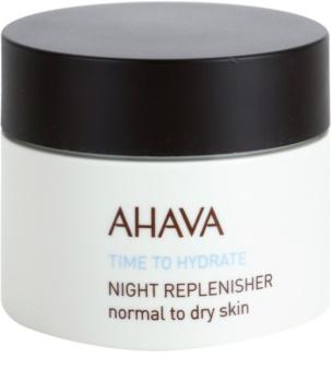 Ahava Time To Hydrate crema de noche regeneradora  para pieles normales y secas