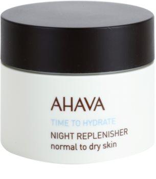 Ahava Time To Hydrate нічний відновлюючий крем для нормальної та сухої шкіри