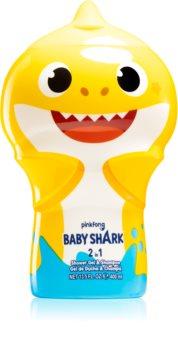 Air Val Baby Shark Sanftes Duschgel und Shampoo für Kinder