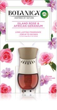 Air Wick Botanica Island Rose & African Geranium електрически дифузер с аромат на рози