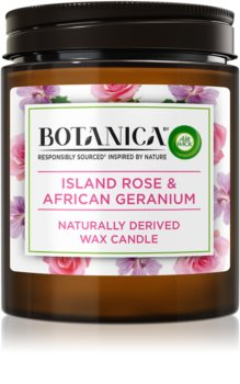 Air Wick Botanica Island Rose & African Geranium aроматична свічка з ароматом троянди
