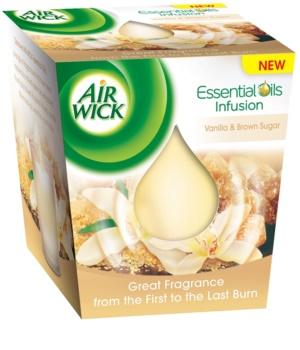 Air Wick Essential Oil Vanilla & Brown Sugar vela perfumado 105 g