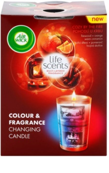 Air Wick Life Scents Color & Fragrance Changing vela perfumado 140 g  (Cozy by the Fire)
