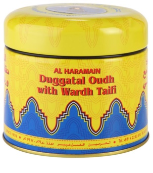Al Haramain Duggatal Oudh with Wardh Taifi frankincense