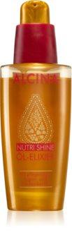Alcina Nutri Shine Eliksiiriöljy Sileille ja Kiiltäville Hiuksille