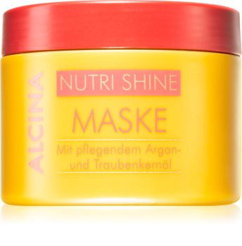 Alcina Nutri Shine mascarilla nutritiva para cabello con aceite de argán