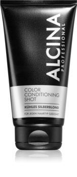 Alcina Color Conditioning Shot Silver Tinted Balm for Hair Color Enhancement