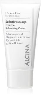 Alcina For All Skin Types samoopalający krem  do twarzy
