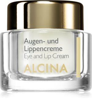 Alcina Effective Care krém na oči a pery s vyhladzujúcim efektom