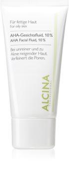Alcina For Oily Skin Fluid do twarzy z kwasami AHA 10 %