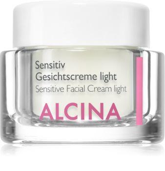 Alcina For Sensitive Skin Hellävarainen Kasvovoide Rauhoittaa Ja Vahvistaa Herkkää Ihoa