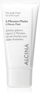 Alcina For All Skin Types mască facială revigorantă pentru 5 minute