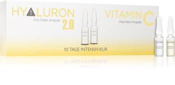 Alcina Hyaluron 2.0 + Vitamin C відновлююча сироватка для обличчя в ампулах