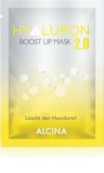 Alcina Hyaluron 2.0 textielmasker voor ogenblikkelijke versteviging en gladmaking van het gezicht