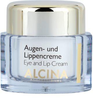 Alcina Effective Care крем за очи и устни с изглаждащ ефект