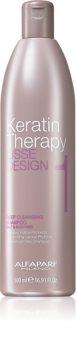 Alfaparf Milano Lisse Design Keratin Therapy tiefenreinigendes Shampoo für alle Haartypen