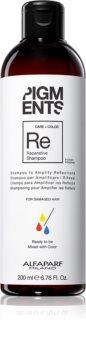 Alfaparf Milano Pigments shampoo rinforzante per capelli rovinati per esaltare il colore dei capelli