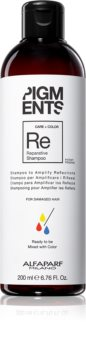 Alfaparf Milano Pigments Strengthening Shampoo for Damaged Hair for Hair Color Enhancement