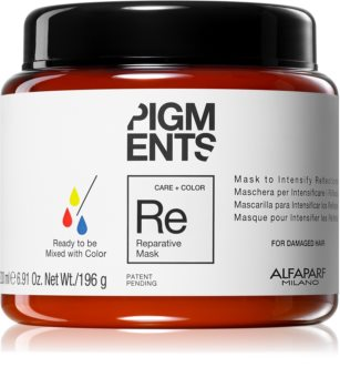 Alfaparf Milano Pigments Restorative Mask for Damaged Hair for Hair Color Enhancement