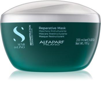 Alfaparf Milano Semi di Lino Reconstruction Reparative masque cheveux pour cheveux abîmés