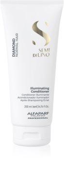 Alfaparf Milano Semi di Lino Diamond Illuminating Brightening Conditioner for Glossy Hair that's Easy to Comb