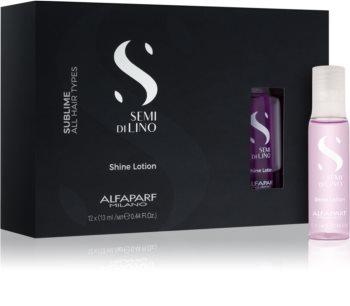 Alfaparf Milano Semi di Lino Sublime Rescructuring Multiplier tratamento para a renovação de cabelo danificado em ampolas