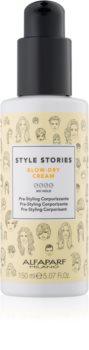 Alfaparf Milano Style Stories The Range Pre-Styling crema protectora para acelerar el secado del cabello para aumentar volumen