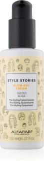 Alfaparf Milano Style Stories The Range Pre-Styling ochranný krém urychlující foukání pro zvětšení objemu