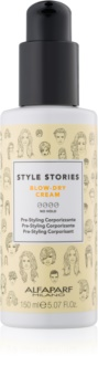 Alfaparf Milano Style Stories The Range Pre-Styling zaštitna krema za ubrzavanje feniranja za povećanje volumena