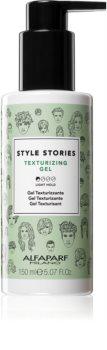 Alfaparf Milano Style Stories The Range Texturizing gel de păr cu fixare ușoară pentru volum maxim