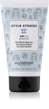 Alfaparf Milano Style Stories The Range Gel gel na vlasy s mokrým efektem střední zpevnění