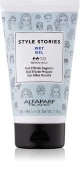 Alfaparf Milano Style Stories The Range Gel gel para el cabello con efecto mojado fijación media