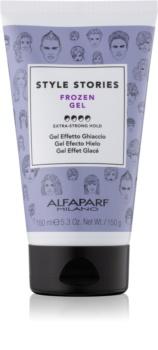 Alfaparf Milano Style Stories The Range Gel gel na vlasy s ledovým efektem extra silné zpevnění