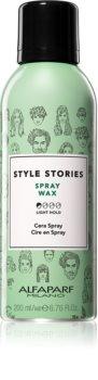 Alfaparf Milano Style Stories Spray Wax cire pour cheveux en spray