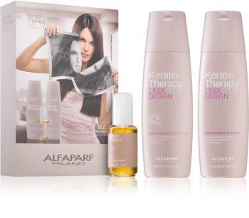 Alfaparf Milano Lisse Design Keratin Therapy zestaw kosmetyków (do wszystkich rodzajów włosów)