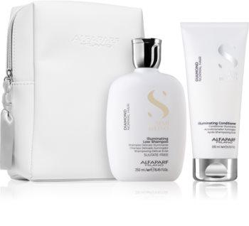 Alfaparf Milano Semi di Lino Diamond Illuminating Gift Set (for Shiny and Soft Hair)