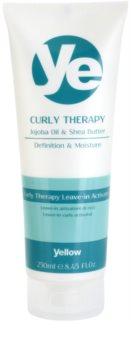 Alfaparf Milano Yellow Curly Therapy tratamiento hidratante sin aclarado para cabello ondulado
