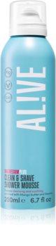 AL!VE Magnesium Plus Clean & Shave doccia schiuma per rasatura