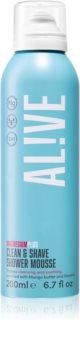 AL!VE Magnesium Plus Clean & Shave Shower Foam for Shaving
