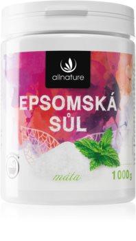 Allnature Epsomská sůl Mint soľ do kúpeľa