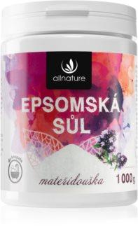 Allnature Epsomská sůl Thyme soľ do kúpeľa