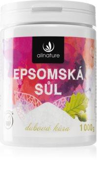 Allnature Epsomská sůl Oak Bark soľ do kúpeľa
