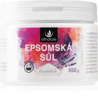 Allnature Epsomská sůl Lavender Badesalte