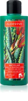 Aloesove Face Care tisztító és lemosó micellás víz az arcra