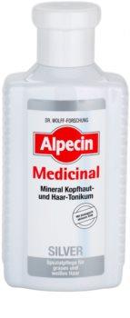 Alpecin Medicinal Silver lozione tonica per capelli neutralizzante per toni gialli
